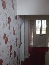 Wallpaper in a domestic hall
